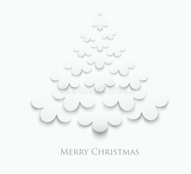 Творческая белая рождественская елка иллюстрация штока