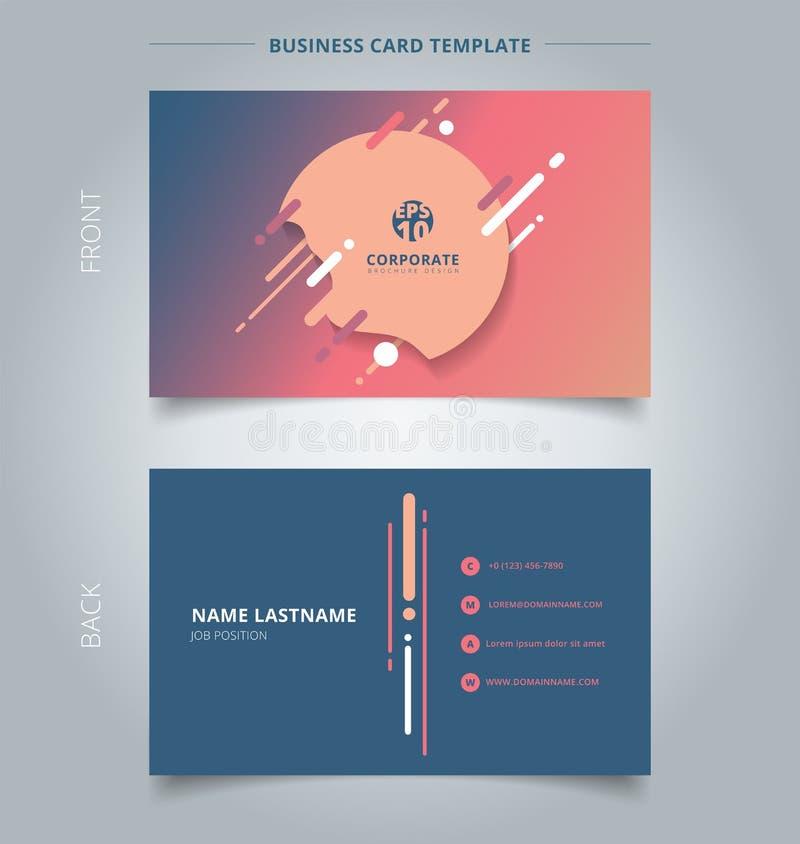 Творческая визитная карточка и выплеск шаблона карточки имени геометрический, бесплатная иллюстрация