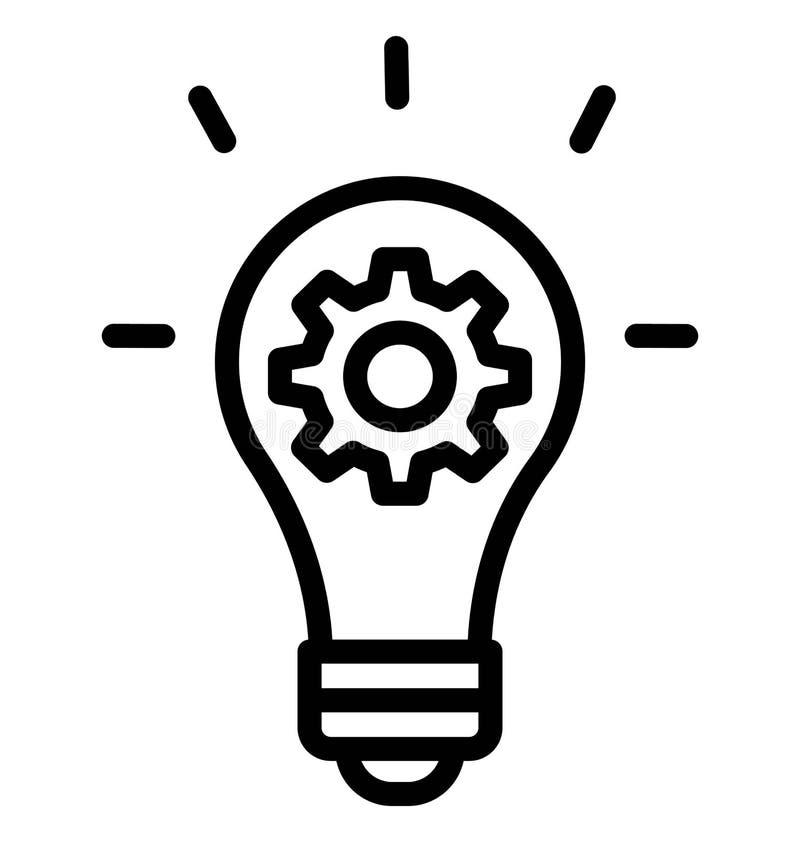 Творческая идея изолировала значок вектора который может легко доработать или отредактировать иллюстрация штока