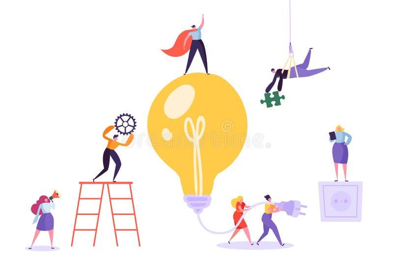 Творческая идея коллективно обсуждать концепцию Бизнес бесплатная иллюстрация