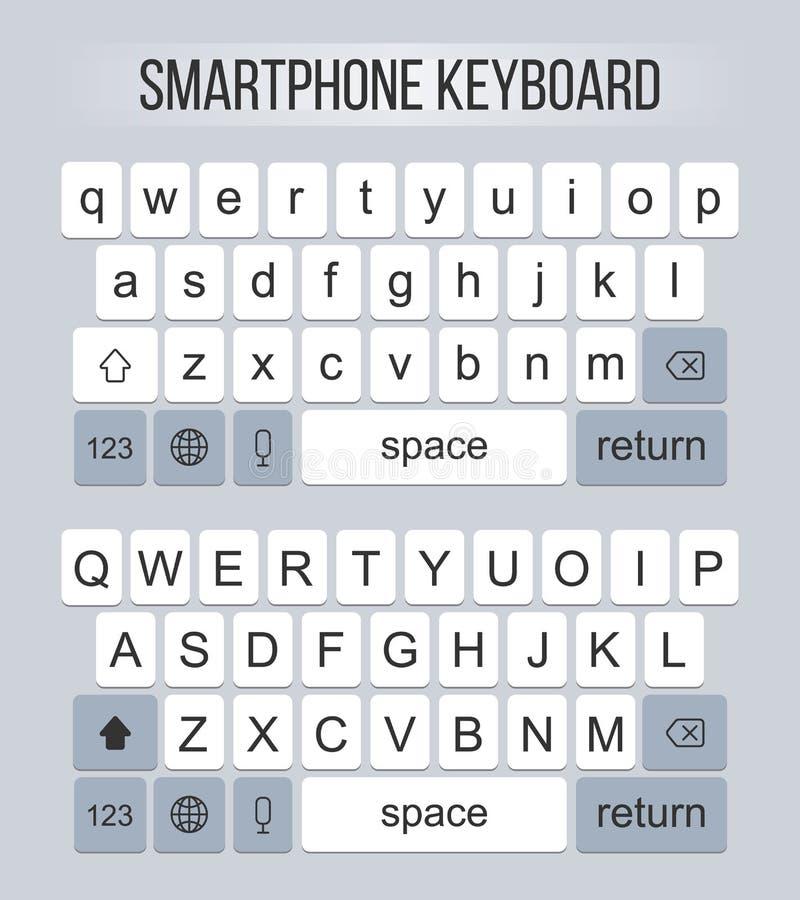 Творческая иллюстрация вектора современной клавиатуры мобильного телефона кнопок алфавита изолированных на предпосылке Ключ дизай бесплатная иллюстрация