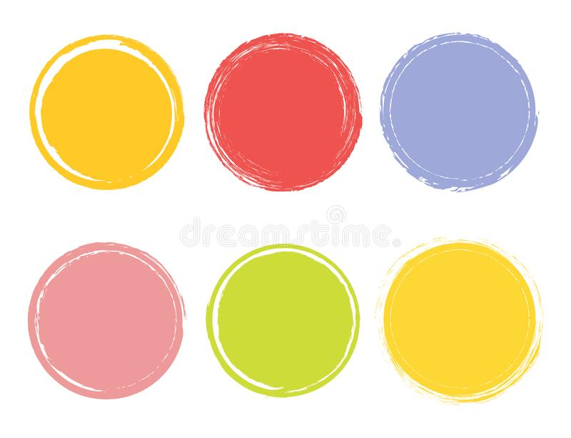 Творческая иллюстрация вектора элемента акварели нарисованного рукой Предпосылка хода щетки круга Покрасьте дизайн искусства Абст бесплатная иллюстрация