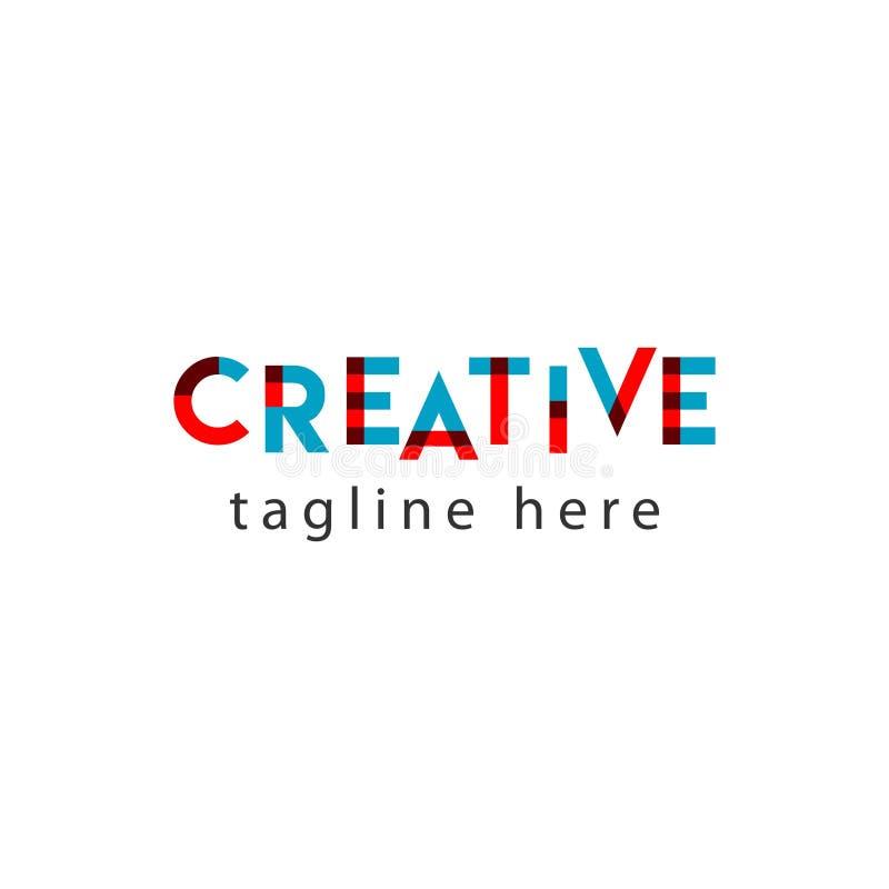Творческая иллюстрация дизайна шаблона вектора письма логотипа иллюстрация штока