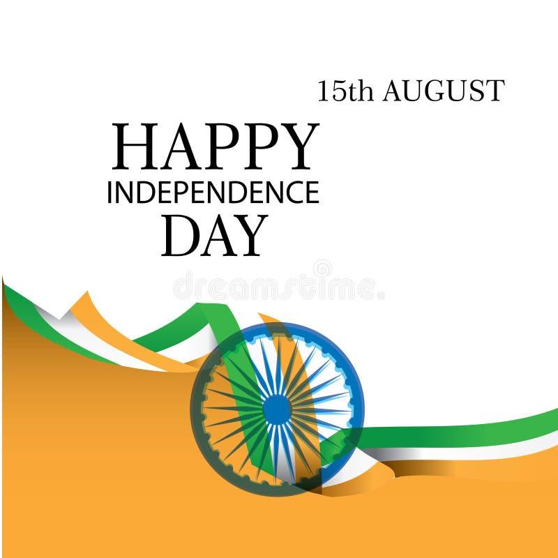 Творческая индийская предпосылка национального флага, элегантный плакат, знамя или дизайн на 15-ое августа, счастливое торжество  иллюстрация штока