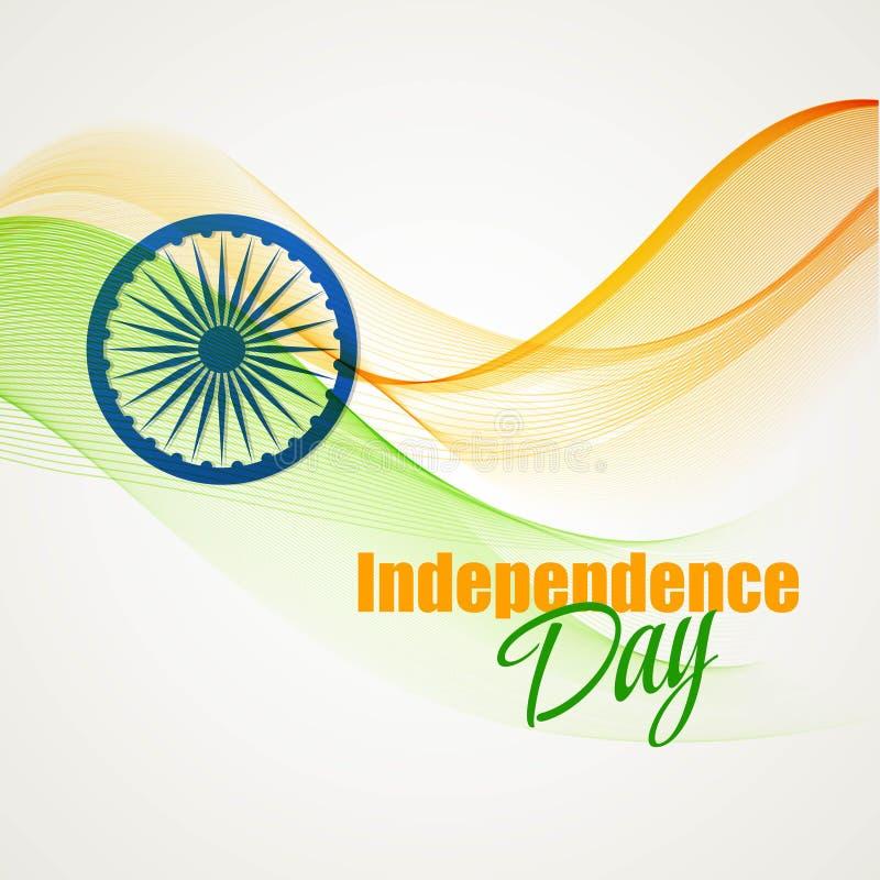 Творческая индийская концепция Дня независимости вектор бесплатная иллюстрация
