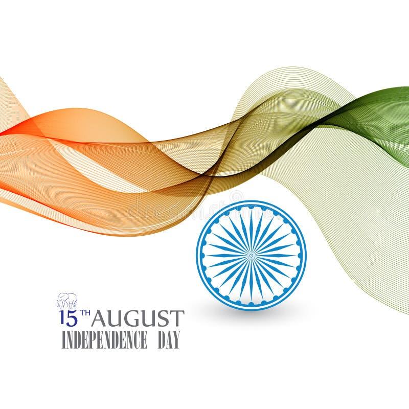 Творческая индийская концепция Дня независимости иллюстрация штока