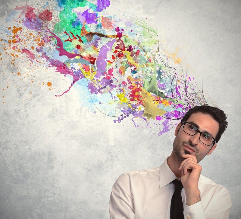 Творческая идея бизнесмена стоковое изображение