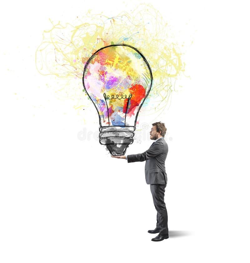 Download Творческая идея дела стоковое фото. изображение насчитывающей светильник - 37925756