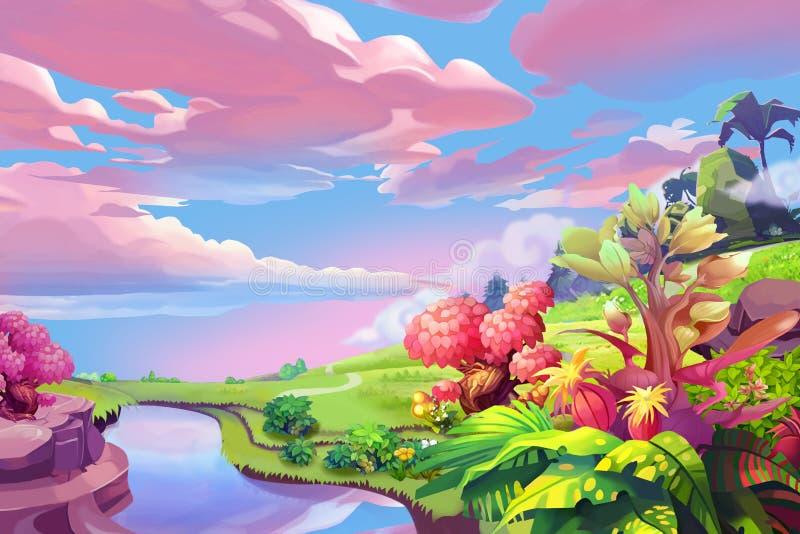 Творческая иллюстрация и новаторское искусство: Молчаливый холм бесплатная иллюстрация