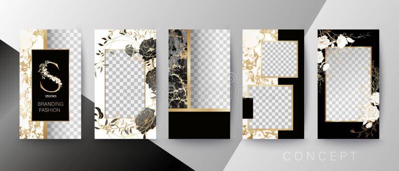Творческая карточка, приглашение, рамка для текста или фото Шаблон цитаты Концепция искусства для рассказов иллюстрация вектора