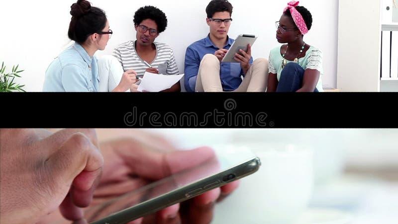 Творческая команда дела на работе видеоматериал