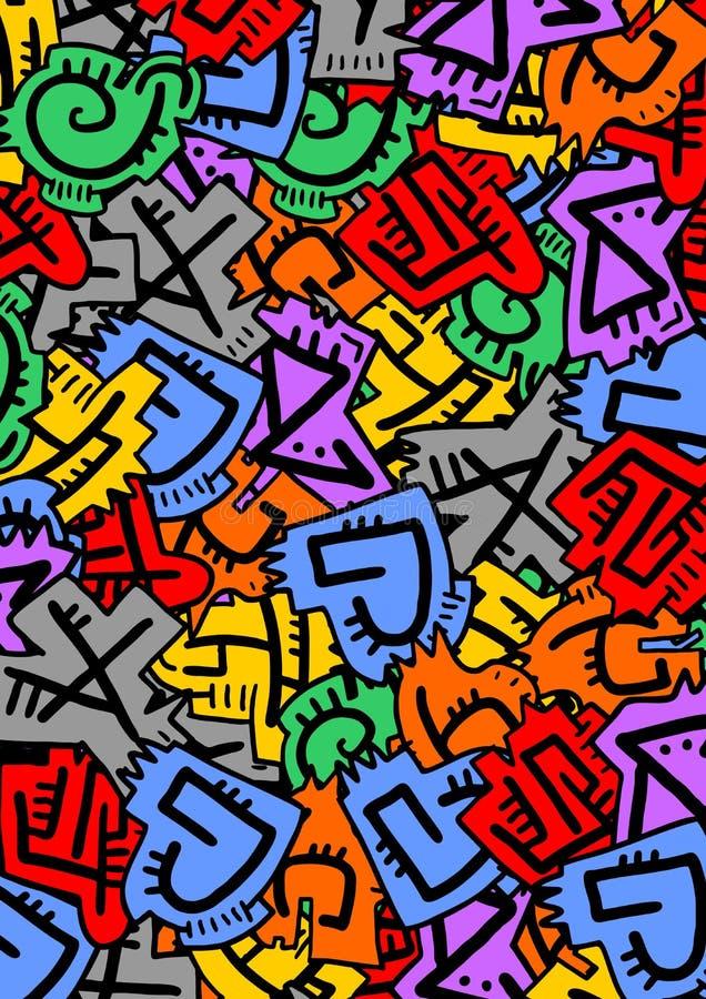 Письма цвета иллюстрация штока
