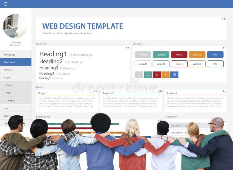 Творческая концепция шаблона дизайна вебсайта образца иллюстрация вектора