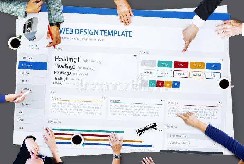Творческая концепция шаблона дизайна вебсайта образца стоковое изображение