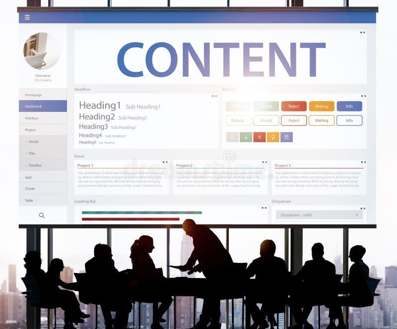 Творческая концепция шаблона дизайна вебсайта образца стоковое фото