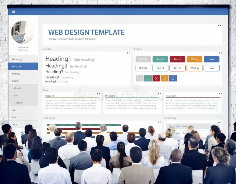 Творческая концепция шаблона дизайна вебсайта образца стоковые изображения