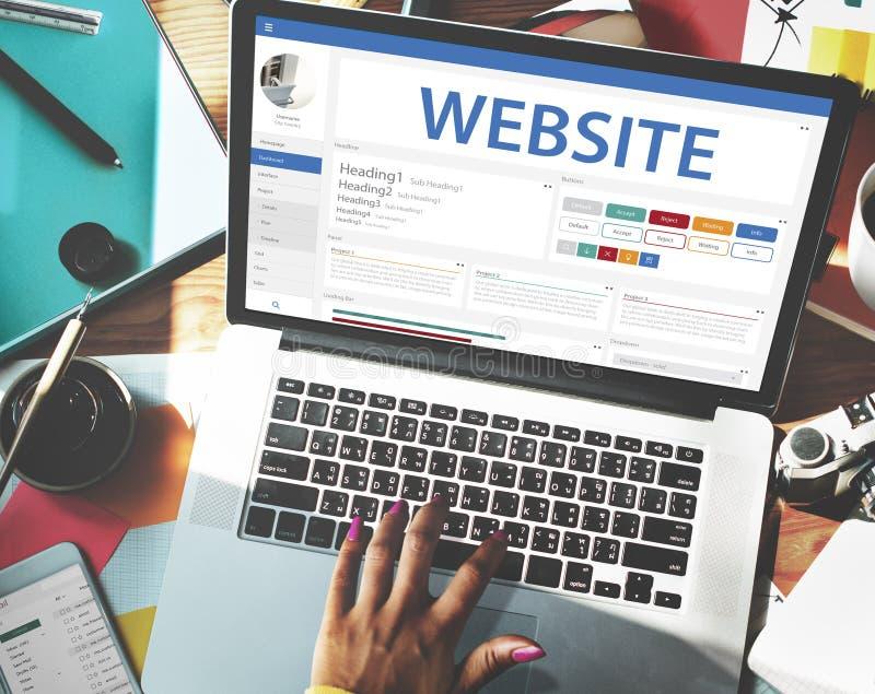 Творческая концепция шаблона дизайна вебсайта образца стоковые изображения rf