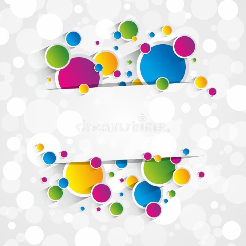 Творческая красочная предпосылка кругов бесплатная иллюстрация
