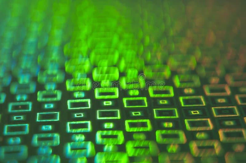 Творческая необыкновенная зеленая предпосылка накаляя прямоугольников стоковое изображение rf