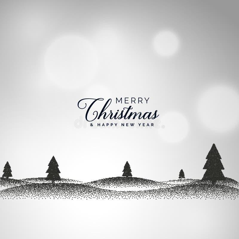 Творческая предпосылка рождества при сцена ландшафта сделанная с точкой иллюстрация вектора