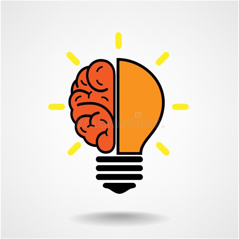 Творческая предпосылка концепции идеи мозга иллюстрация штока