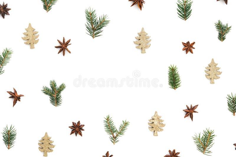 Творческая рамка рождества на белой предпосылке стоковые изображения rf
