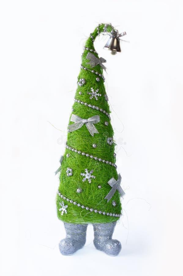 Творческая рождественская елка на белой предпосылке стоковые изображения