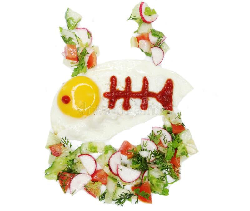 Творческая форма рыб завтрака яичка стоковые фото