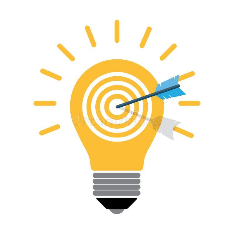 Творческая электрическая лампочка, targett иллюстрация штока