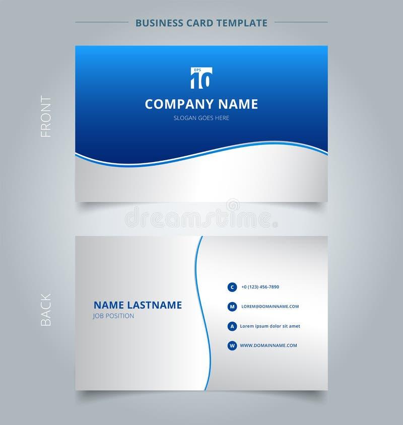 Творческие визитная карточка и шаблон карточки имени, волна нашивки выравниваются иллюстрация вектора
