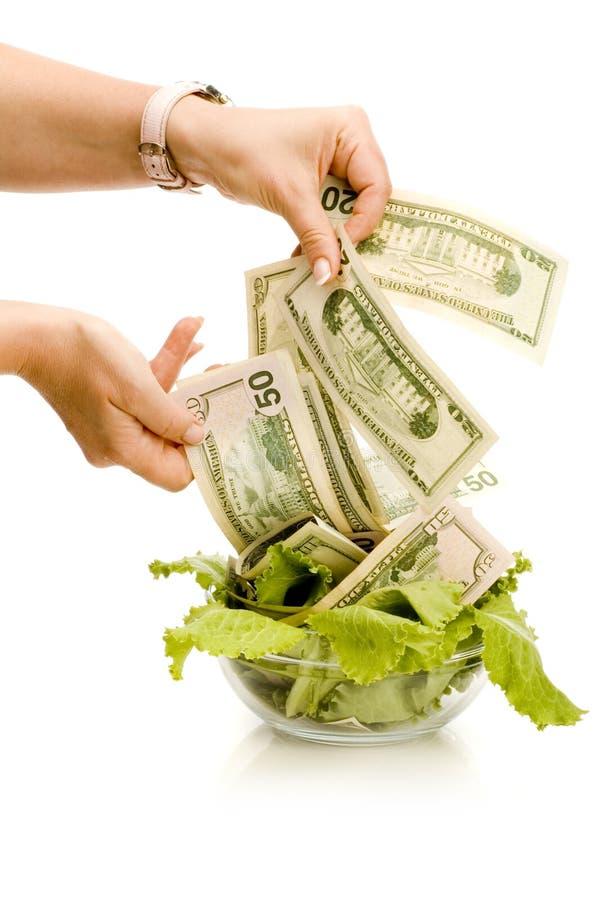 творческие деньги еды стоковое изображение rf