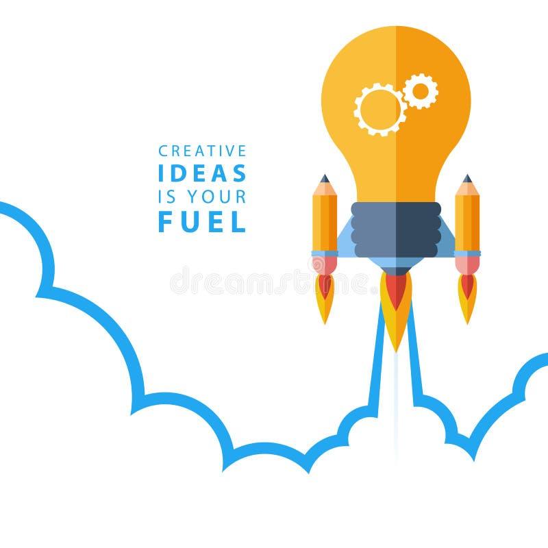 Творческие идеи ваше топливо Концепция иллюстрации вектора плоского дизайна красочная иллюстрация штока