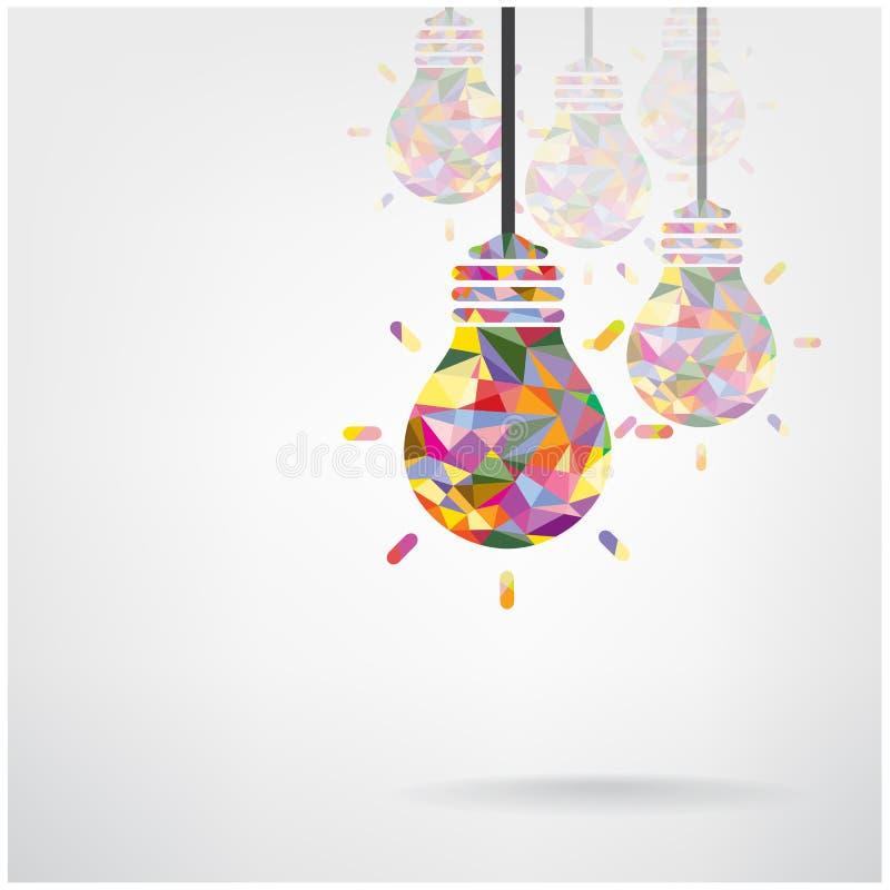 Творческие символы электрической лампочки иллюстрация штока