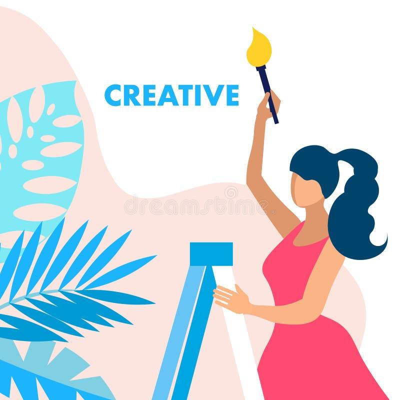 Творческие способности, дизайнерская концепция знамени вектора обслуживания бесплатная иллюстрация