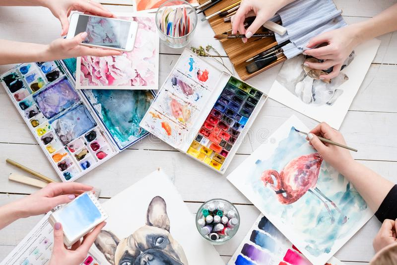 Творческие способности притяжки воодушевленности изображения картины искусства стоковое изображение