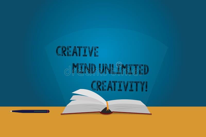 Творческие способности творческого разума текста почерка неограниченные Смысл концепции полный страниц цвета мозга оригинальных и иллюстрация штока