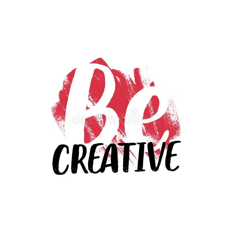 Творческий вдохновляющий лозунг Дизайн футболки бесплатная иллюстрация