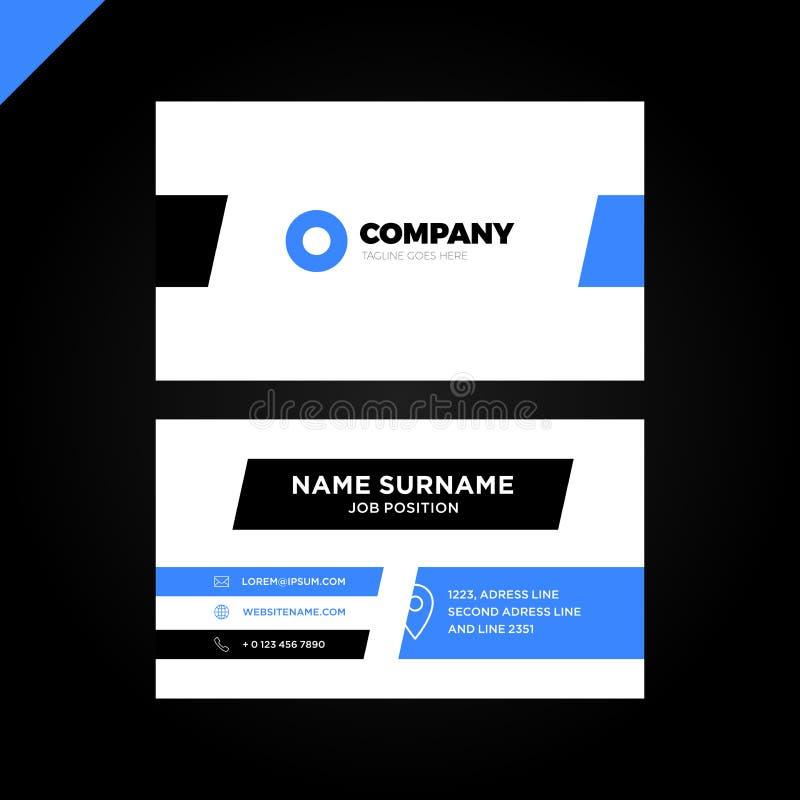 Творческий вектора современный и чистый шаблон визитной карточки Плоский дизайн иллюстрация штока