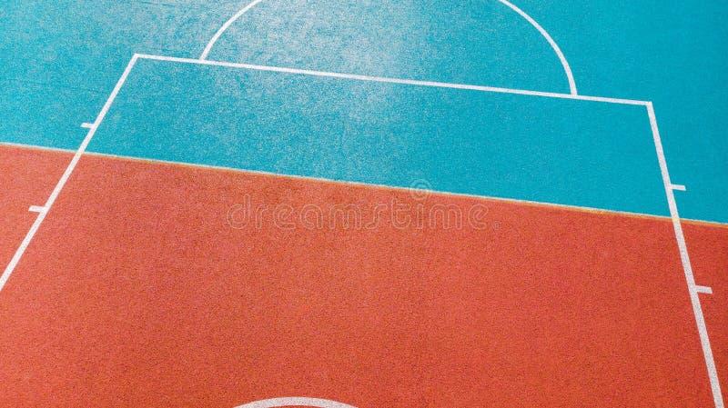 Творческий взгляд на баскетбольный двор стоковые фото
