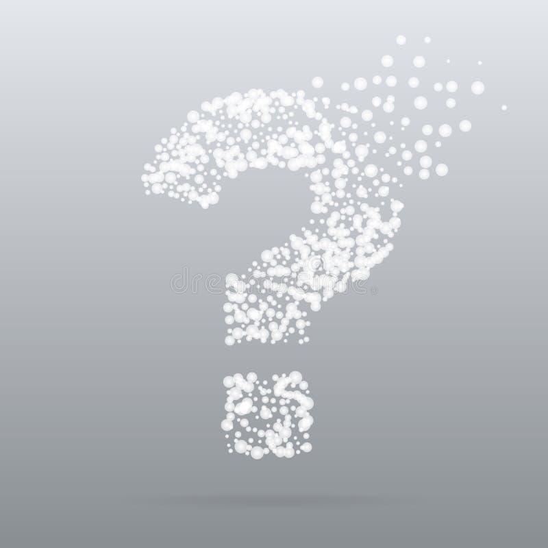 Творческий вопрос о значка точки бесплатная иллюстрация