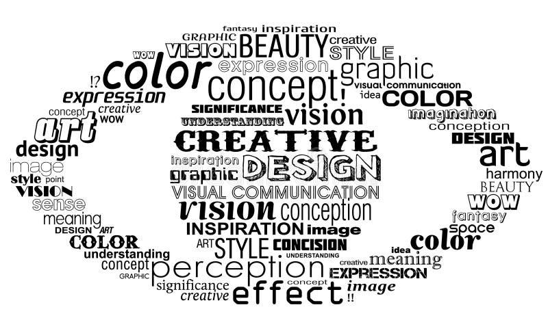 творческий глаз иллюстрация вектора