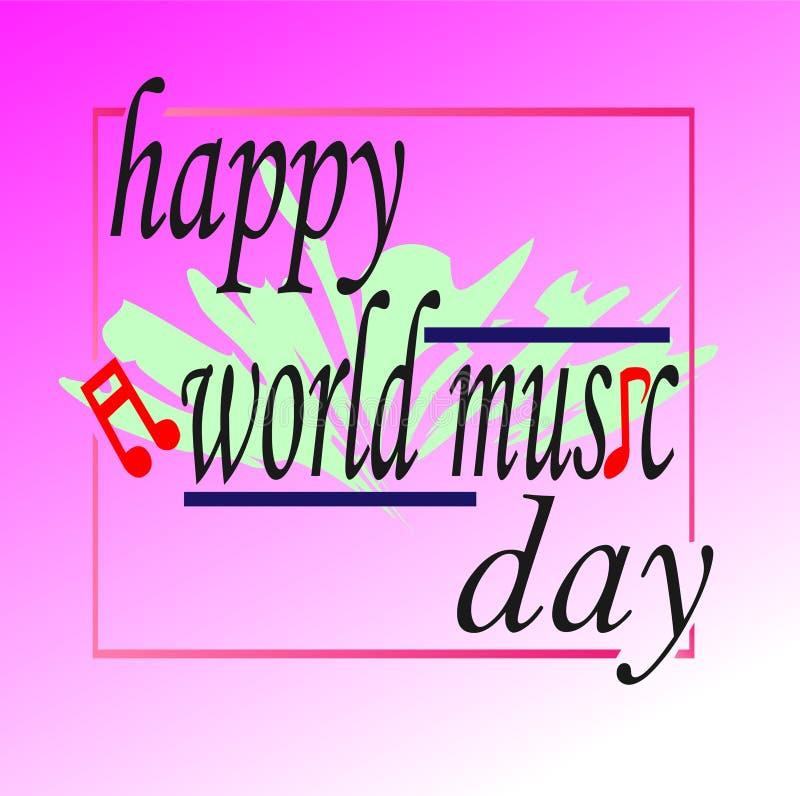 Творческий день музыки мира логотипа иллюстрация вектора