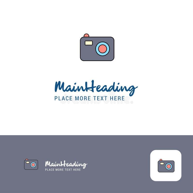 Творческий дизайн логотипа камеры Плоское место логотипа цвета для слогана также вектор иллюстрации притяжки corel иллюстрация вектора
