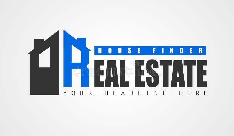 Творческий дизайн логотипа недвижимости для образа бренда, компании pro иллюстрация штока