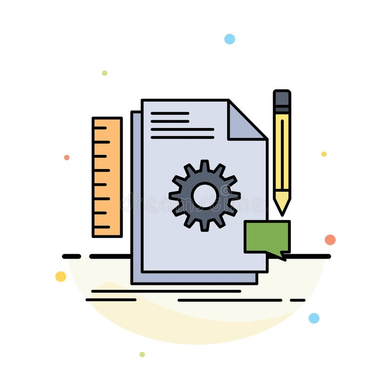 Творческий, дизайн, превратитесь, обратная связь, вектор значка цвета поддержки плоский иллюстрация вектора