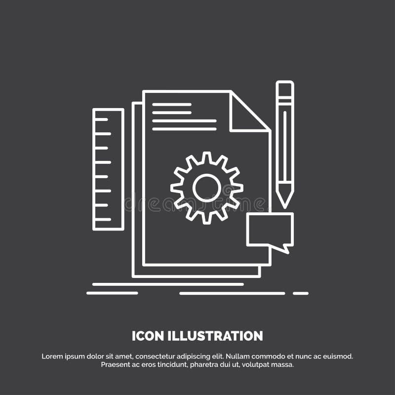 Творческий, дизайн, превратитесь, обратная связь, значок поддержки r иллюстрация штока