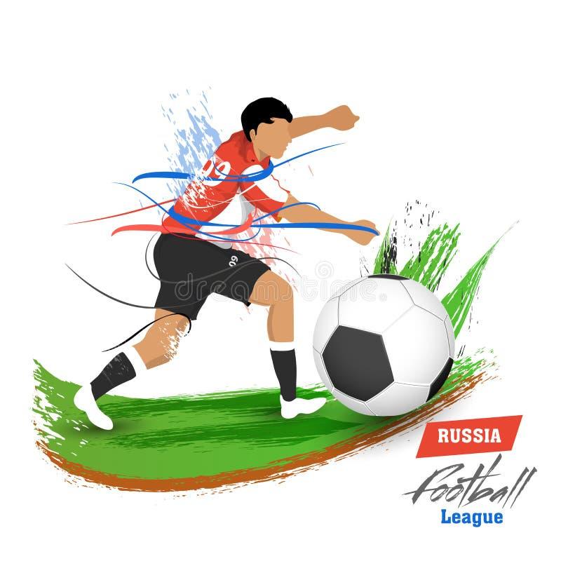 Творческий дизайн рогульки или шаблона с характером футболиста i иллюстрация вектора