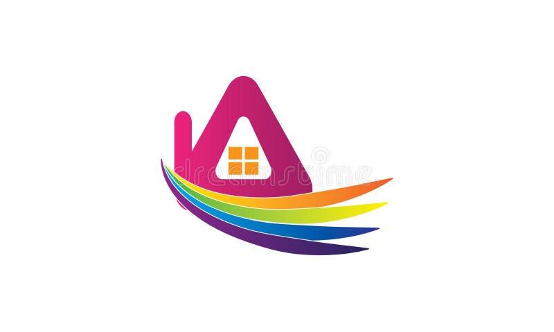 Творческий дизайн шаблона логотипа дома недвижимости - значок логотипа Имущества Компании - дизайн логотипа дома строительной фир бесплатная иллюстрация
