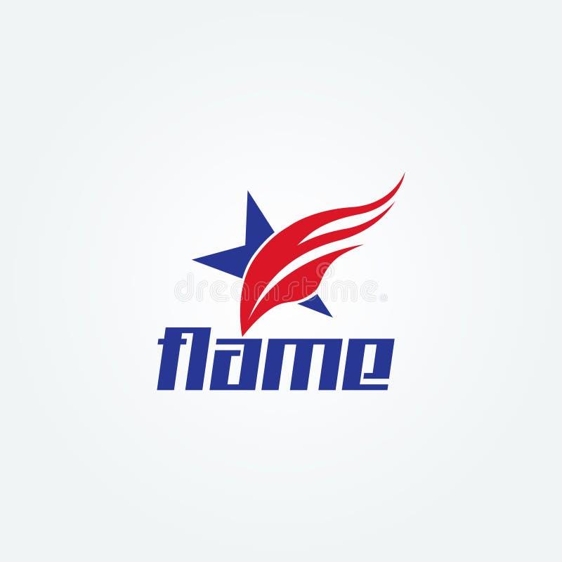 Творческий значок символа знака логотипа звезды огня Swoosh иллюстрация вектора