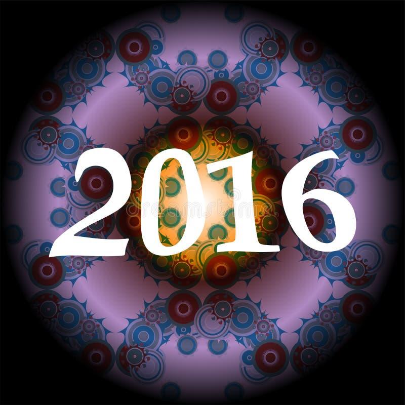 творческий дизайн поздравительной открытки 2016 бесплатная иллюстрация